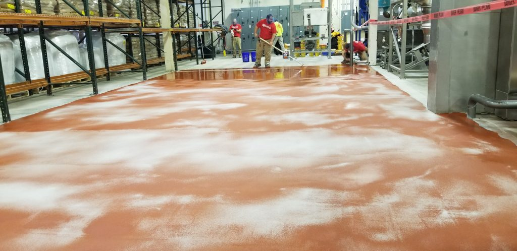 food processing plant floor