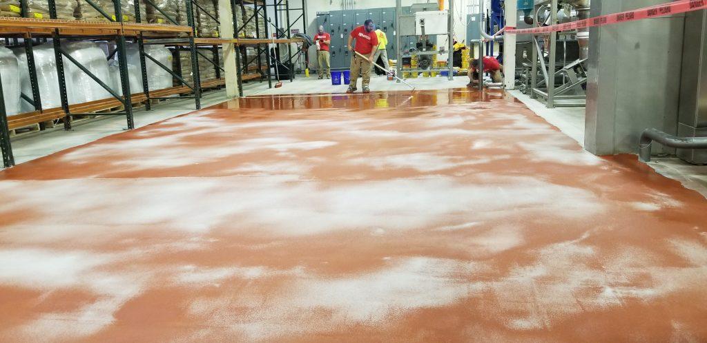 food processing plant floor